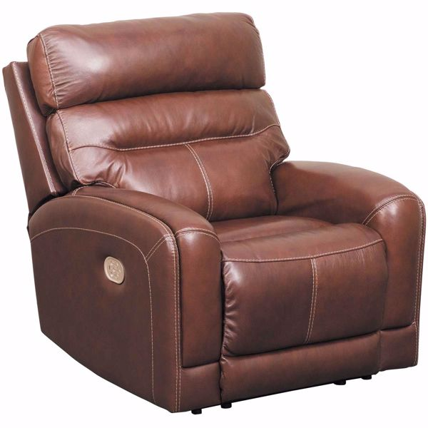 Sessom Leather Power Recliner With Adjustable Headrest And Lumbar U1240513 Ashley Furniture Afw Com