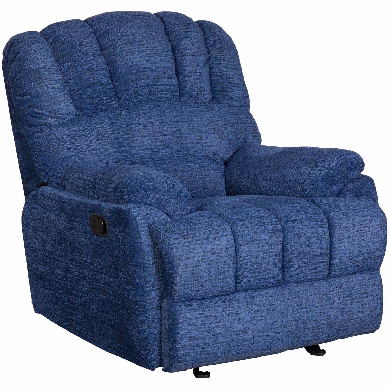Picture of Morris Blue Glider Recliner