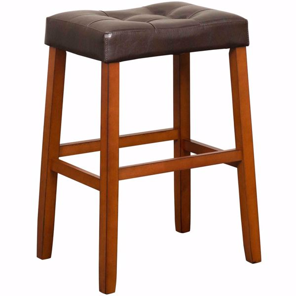 "Picture of Portman 30"" Espresso Saddle Stool Stool"
