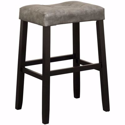 "Picture of Portman 30"" Grey Saddle Stool"