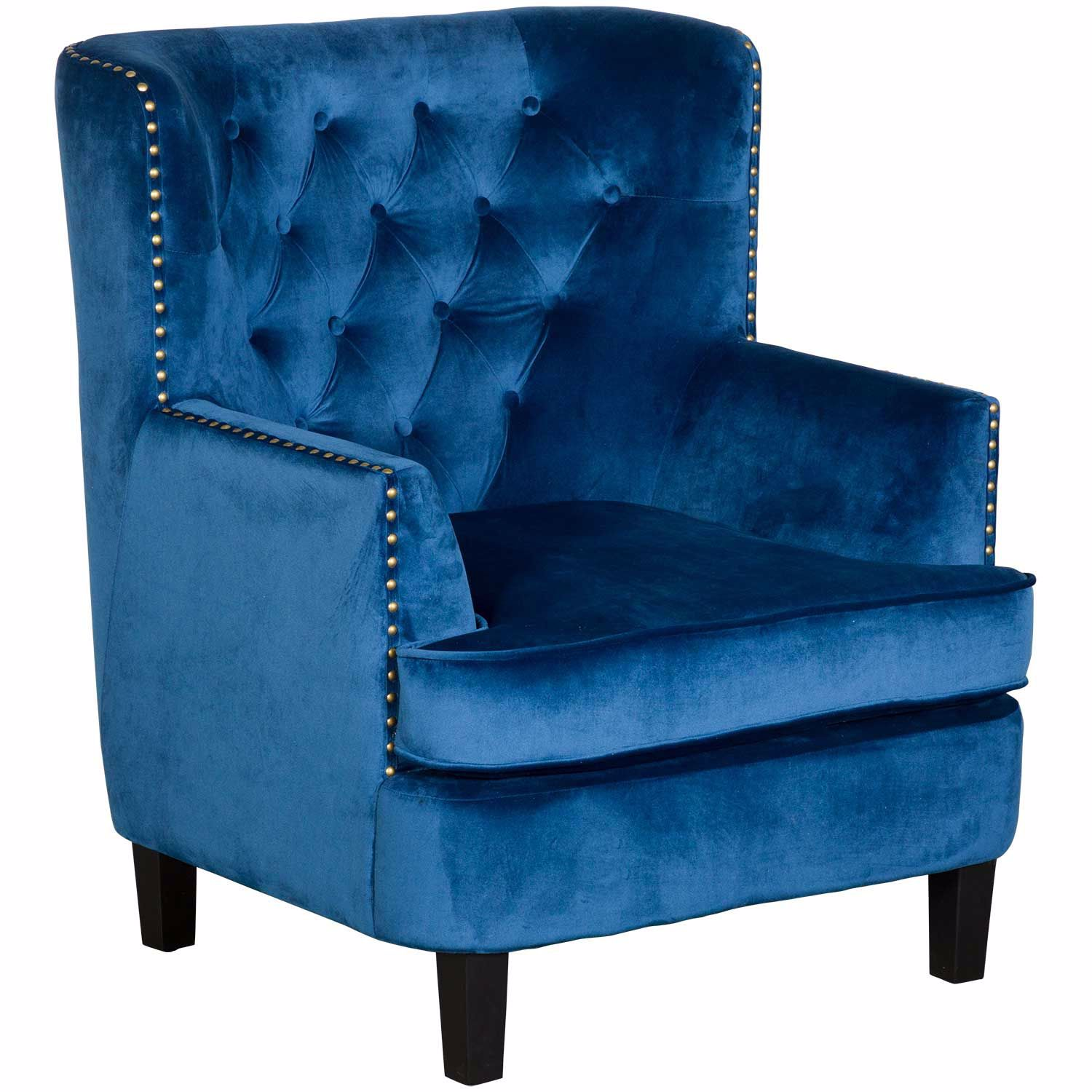 Picture of Phillips Blue Tufted Accent Chair