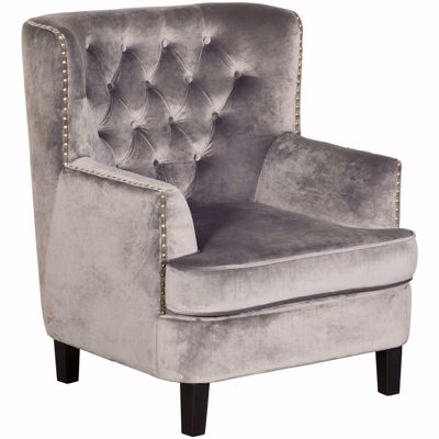 Picture of Phillips Gray Tufted Accent Chair