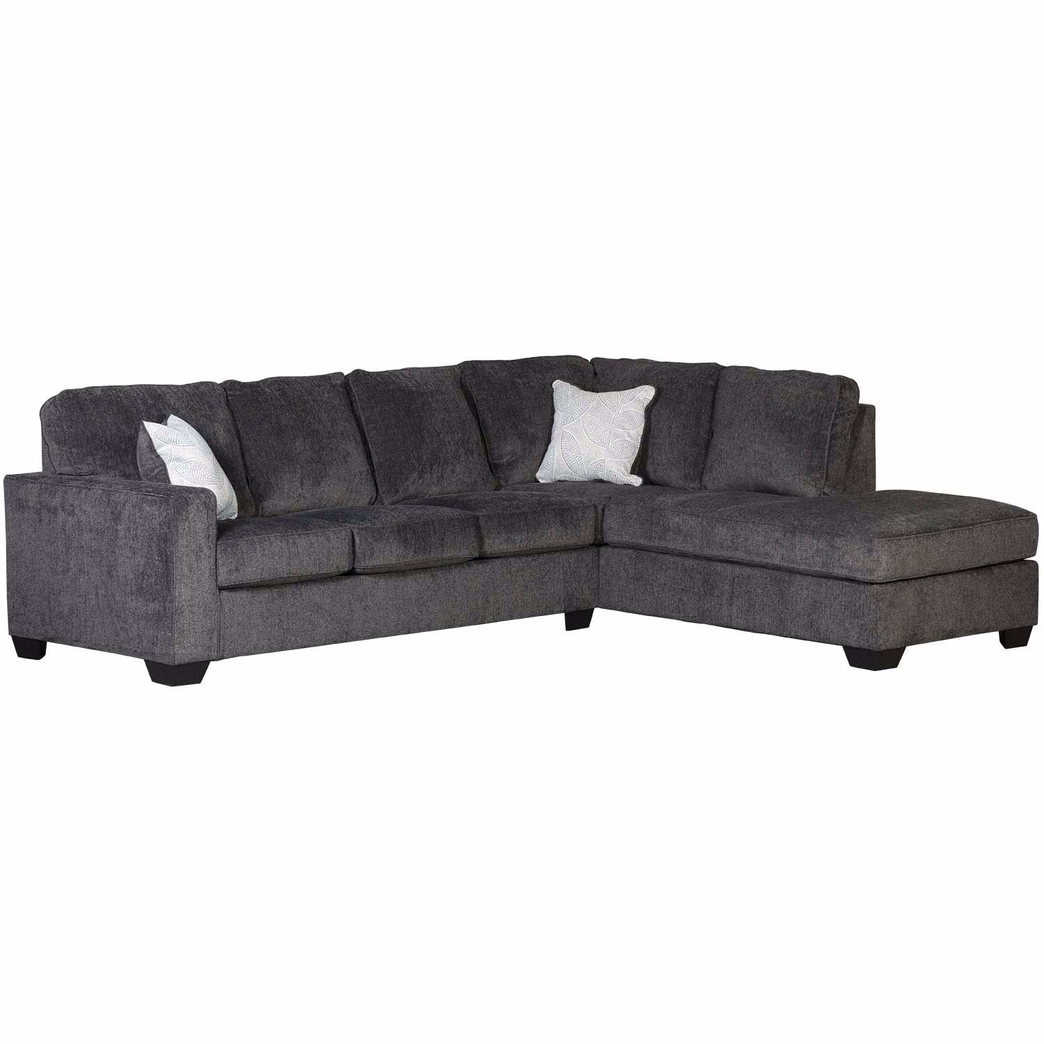Peachy Altari Slate 2 Pc Sectional With Raf Chaise Alphanode Cool Chair Designs And Ideas Alphanodeonline