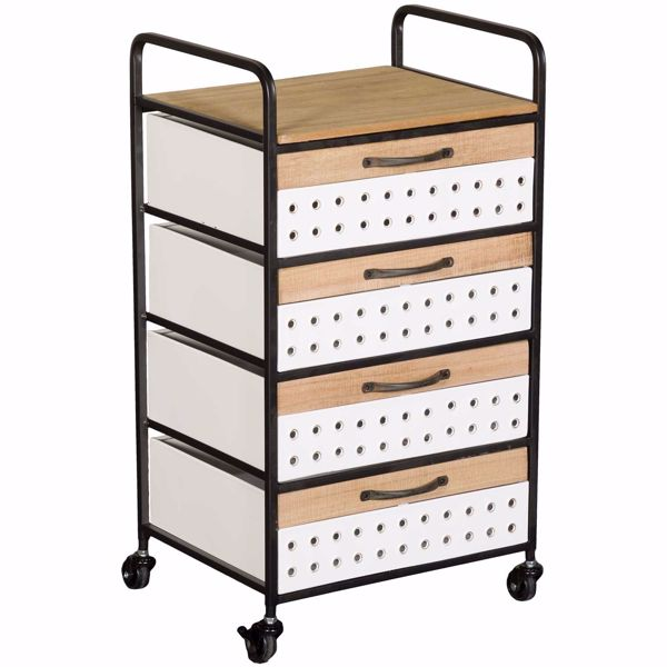 Picture of White Four Drawer Basket