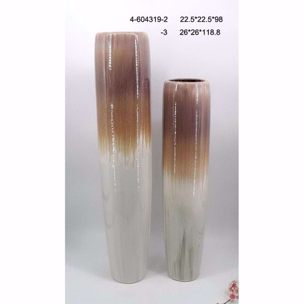 Picture of Brown Ivory Ceramic Vase