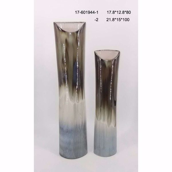 Picture of Metallic Top Cylinder Vase
