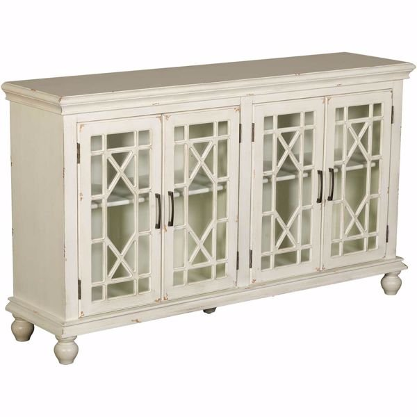 Picture of White Four Door Cabinet