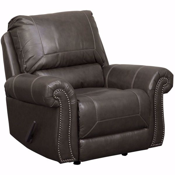 Picture of Lawthorn Slate Italian Leather Rocker Recliner