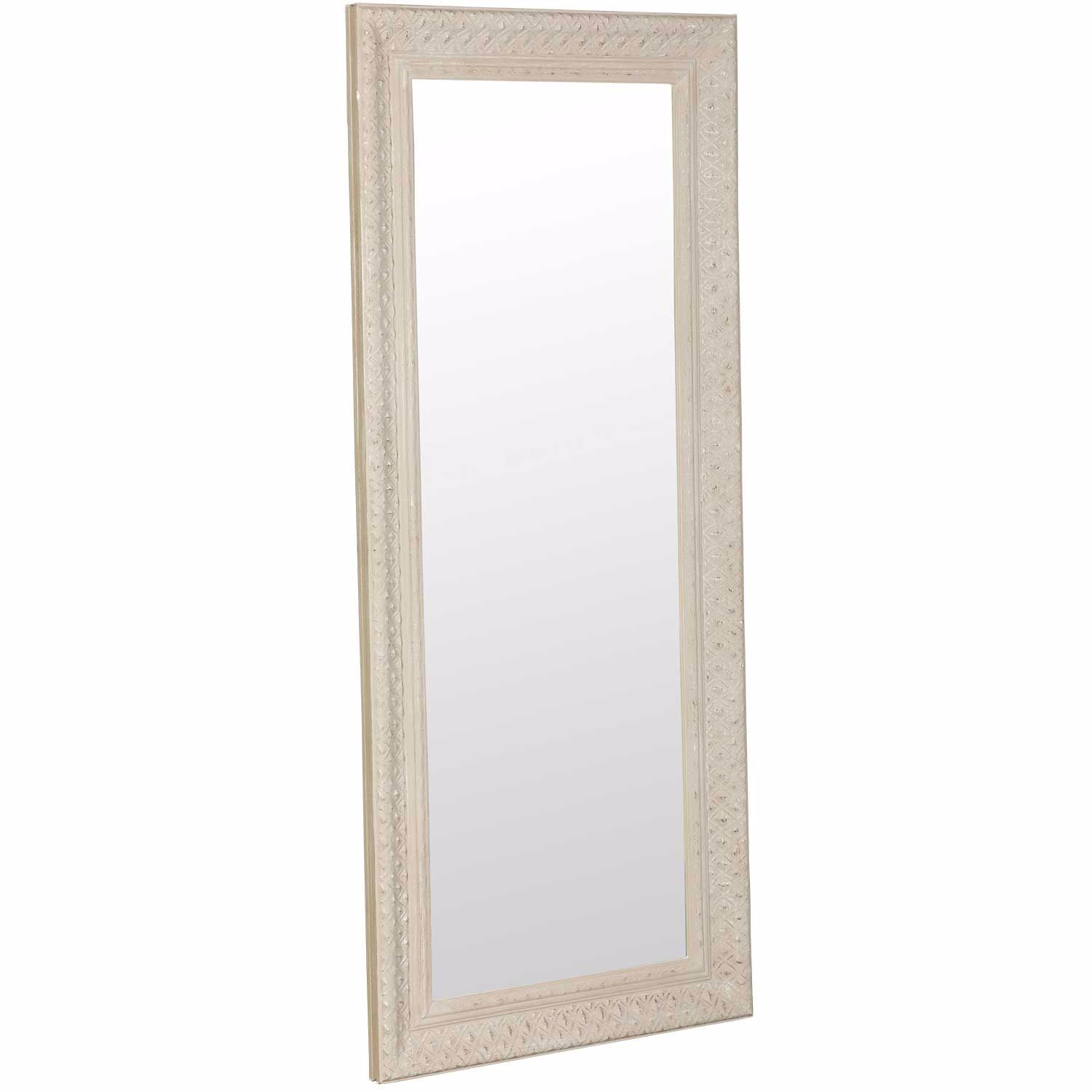 Picture of Light Wood Decorative Leaner Mirror