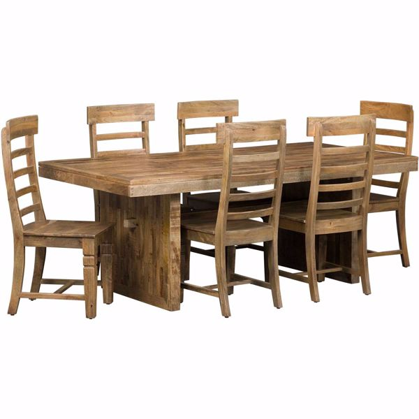 Picture of Vintage Rectangular Table 7 Piece Set