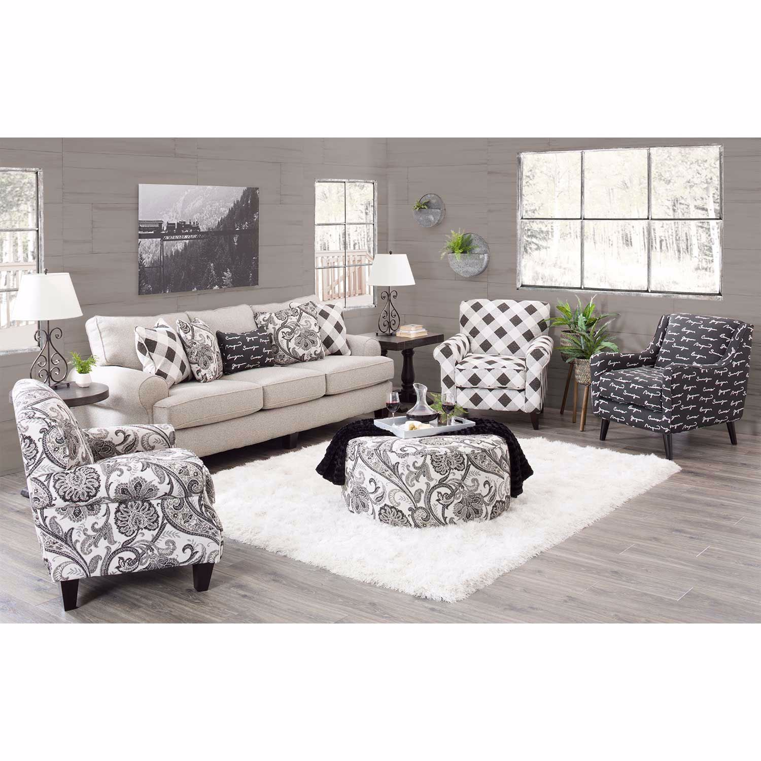 Picture of Abby Road Script Accent Chair