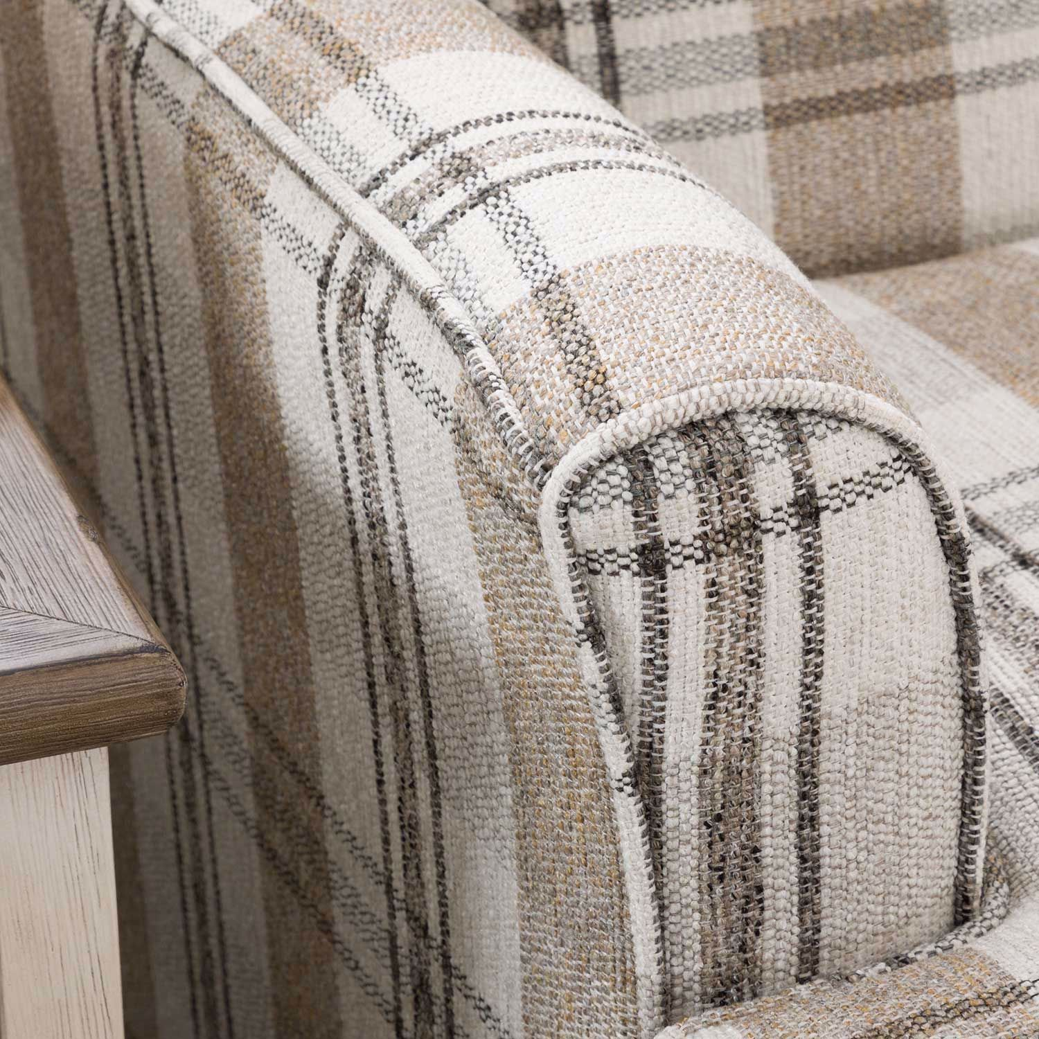 Picture of The Farmhouse Plaid Accent Chair