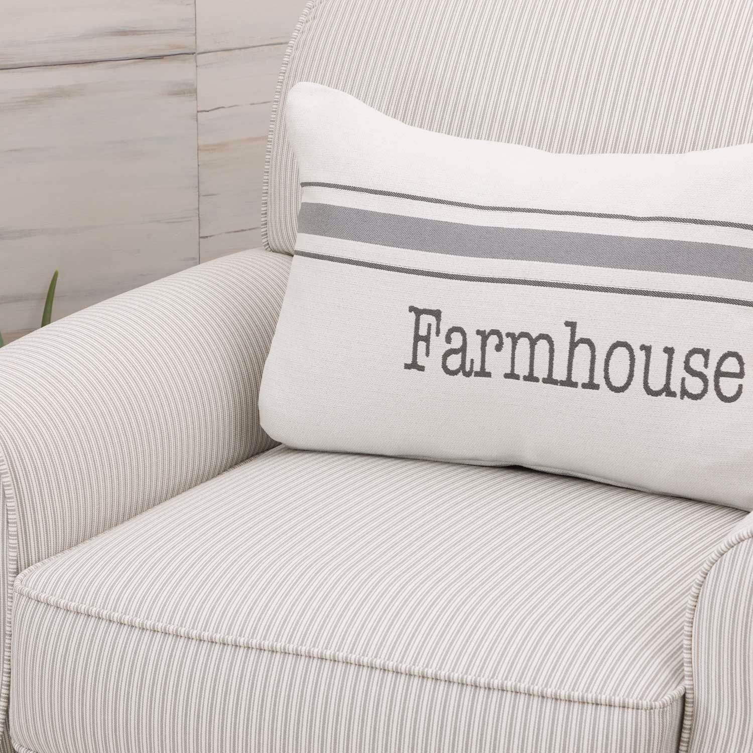 Magnificent The Farmhouse Stripe Accent Chair Andrewgaddart Wooden Chair Designs For Living Room Andrewgaddartcom