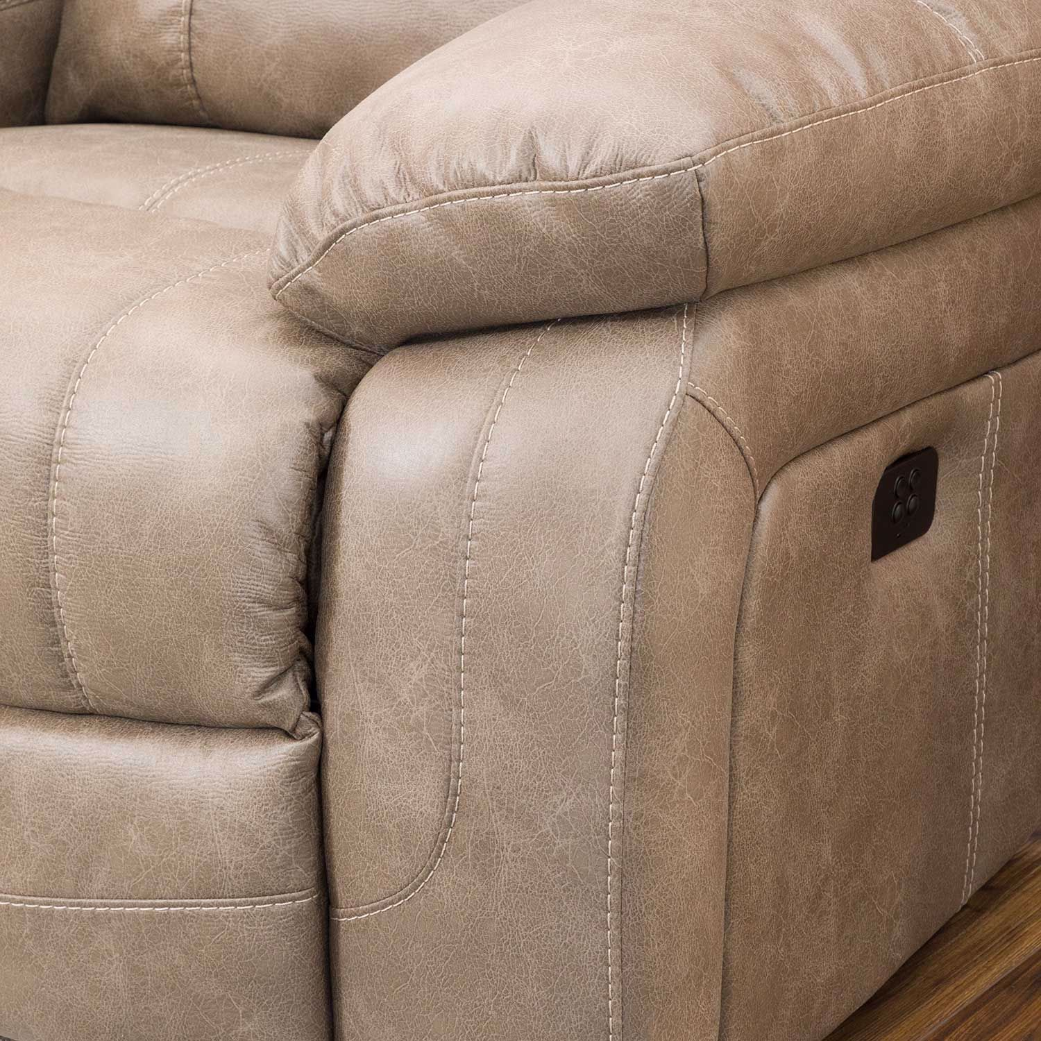 Picture of Dunwell Driftwood Power Recliner with Adjustable Headrest