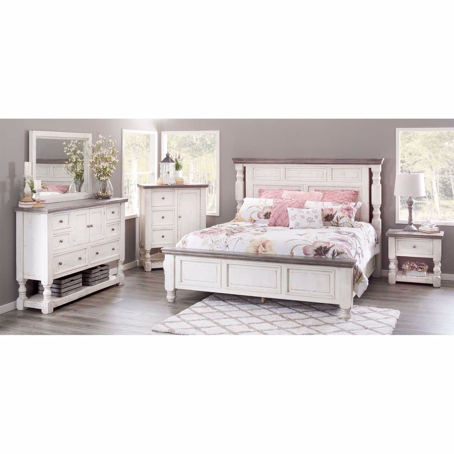 Stone Collection 5 Piece Bedroom Set Ifd4690cht Dsr Mir