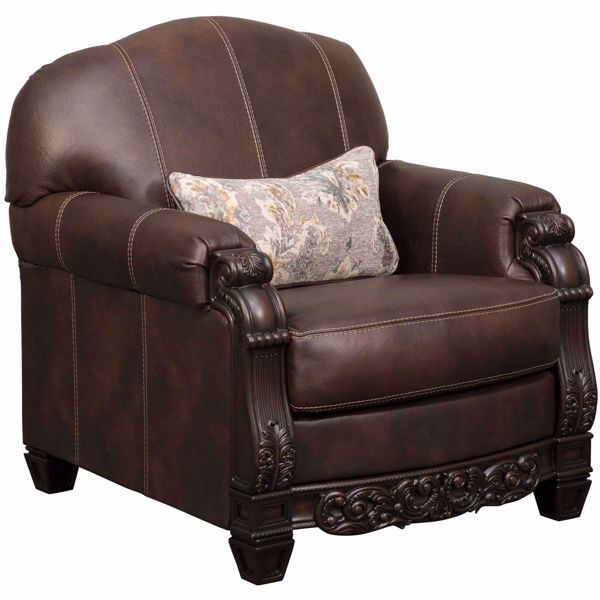 Picture of Embrook Chocolate Leather Chair