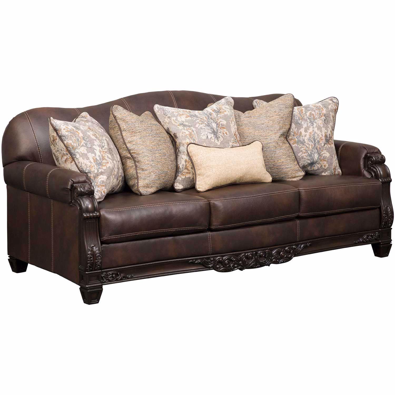 Embrook Chocolate Leather Sofa