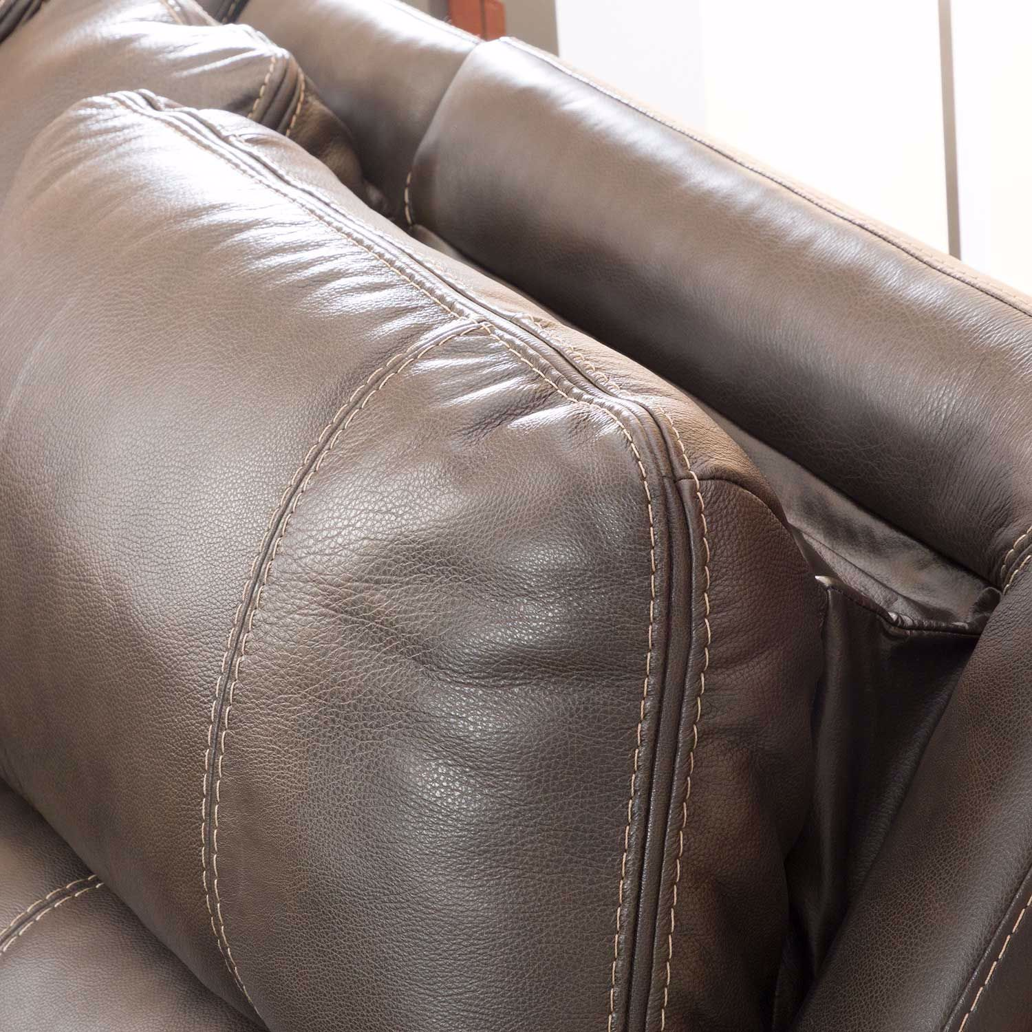 Picture of Ricmen Italian Leather Power Recliner with Adjustable Headrest