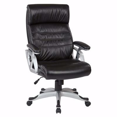 Picture of Exec Black Bonded Leather Chair