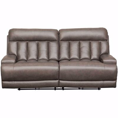 Picture of Steel Leather Power Recline Sofa with Adjustable H