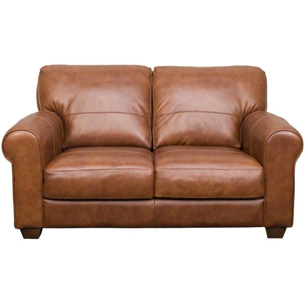 Whisky Italian All Leather Loveseat, Leather Loveseat And Sofa