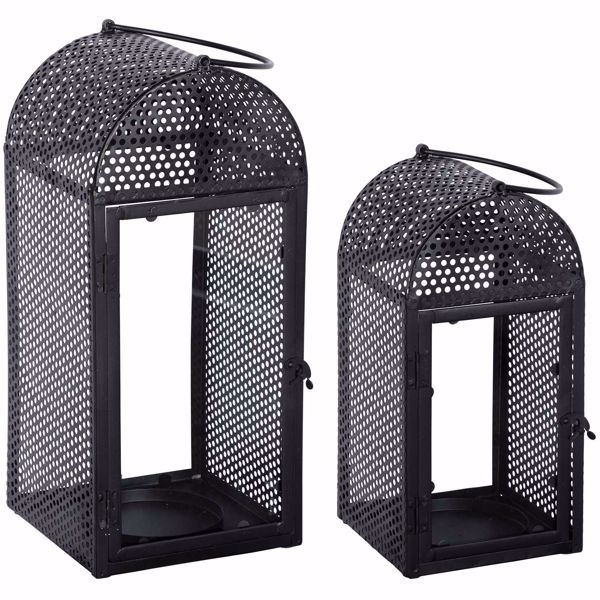 Picture of Black Candle Lanterns