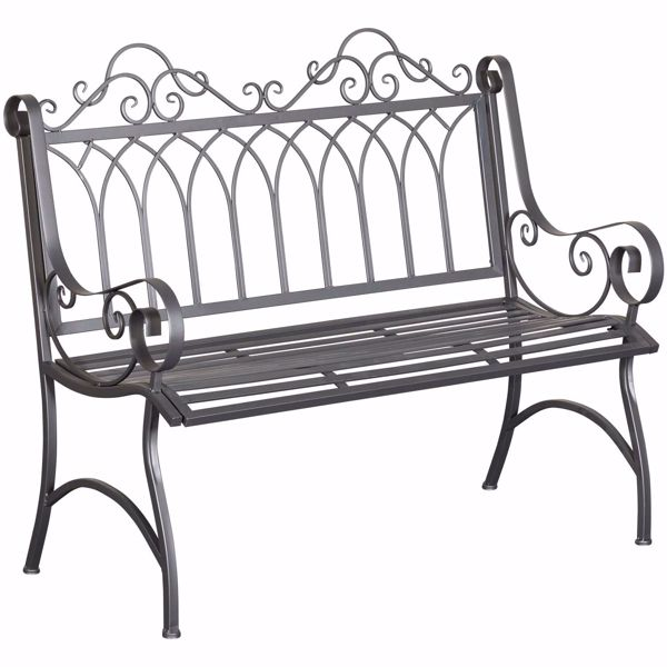 Picture of Gray Metal Bench