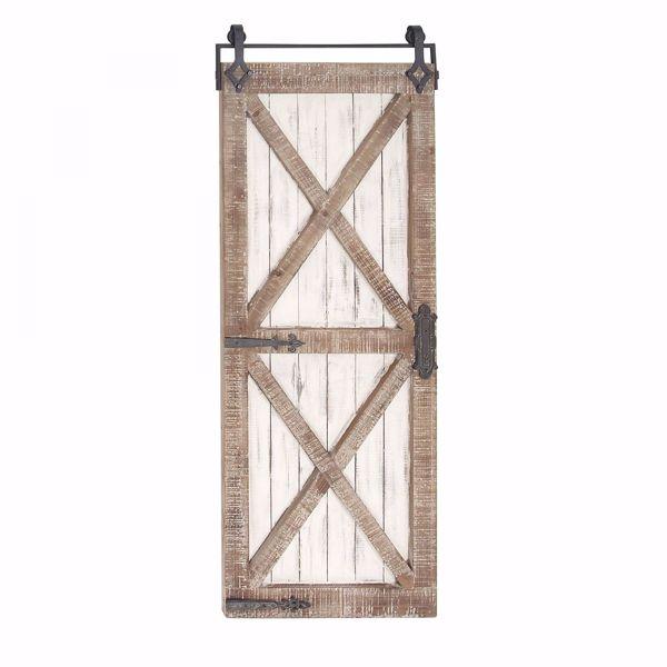 Picture of Wood Metal Barn Door Decor