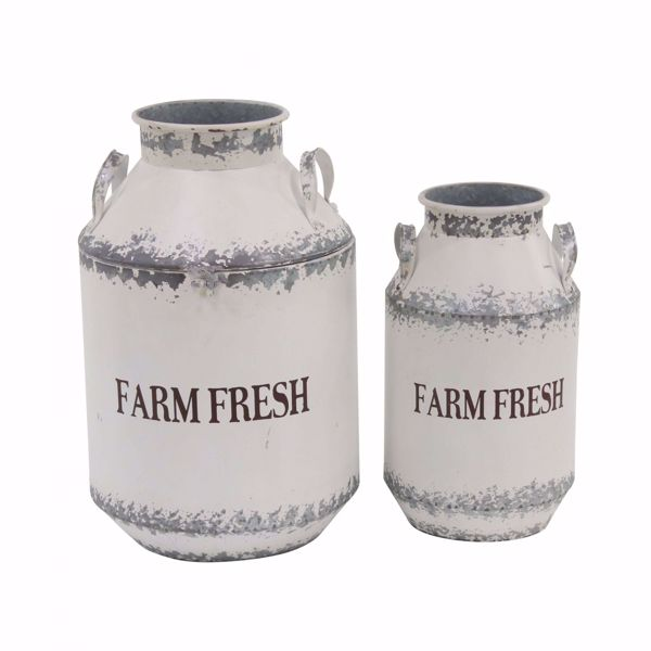 Picture of Set of 2 White Fram Fresh Cans