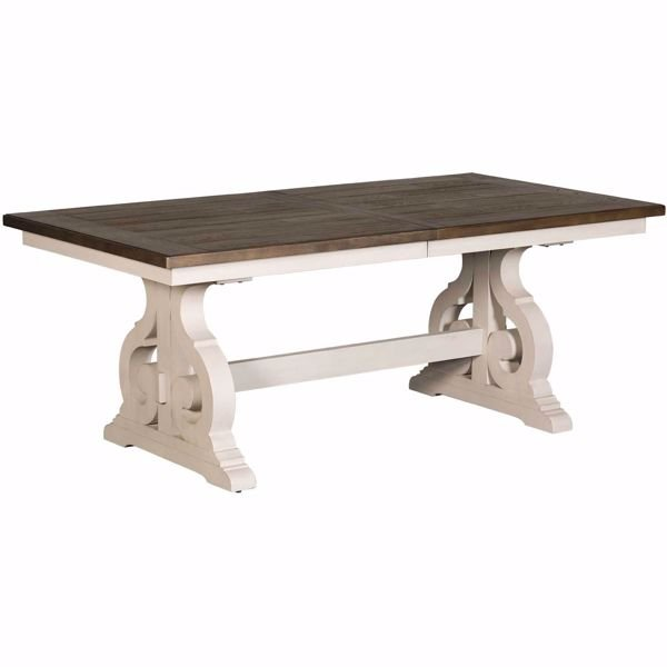 Picture of Drake Two-Tone Trestle Table