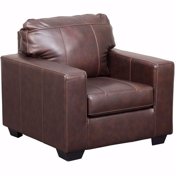 Picture of Morelos Brown Italian Leather Chair