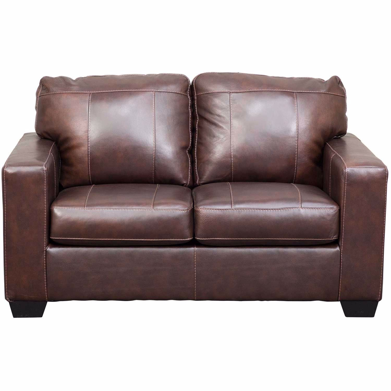 Awe Inspiring Morelos Brown Italian Leather Loveseat Caraccident5 Cool Chair Designs And Ideas Caraccident5Info