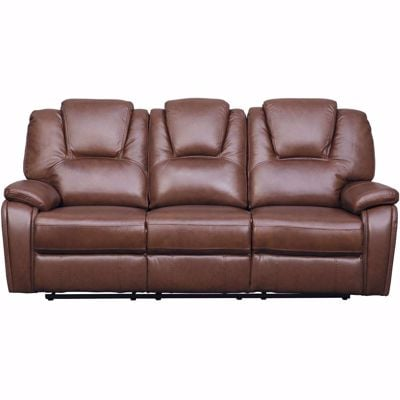 Picture of Dapper Leather Reclining Sofa