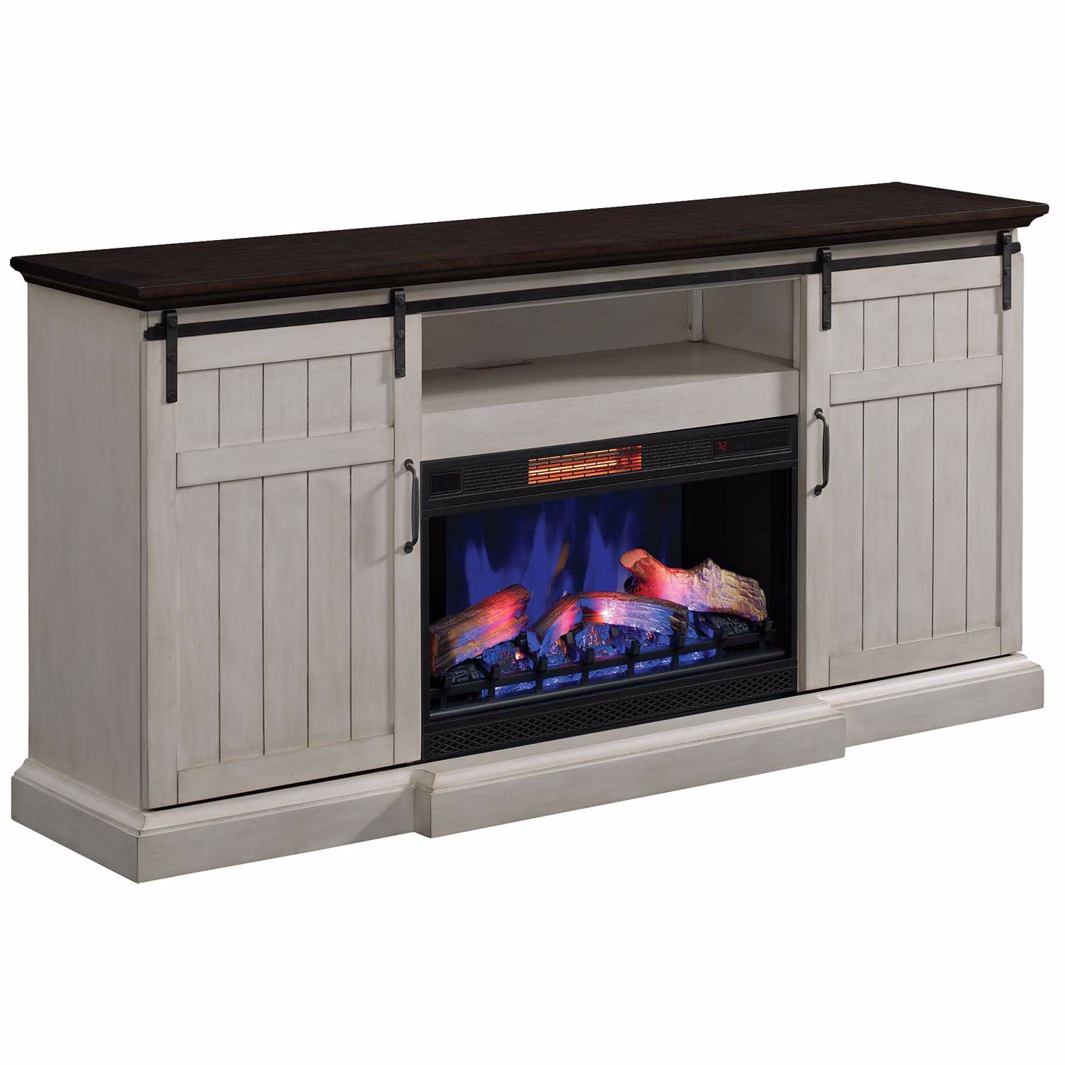 Picture of Cabaret Media Fireplace in Vintage White