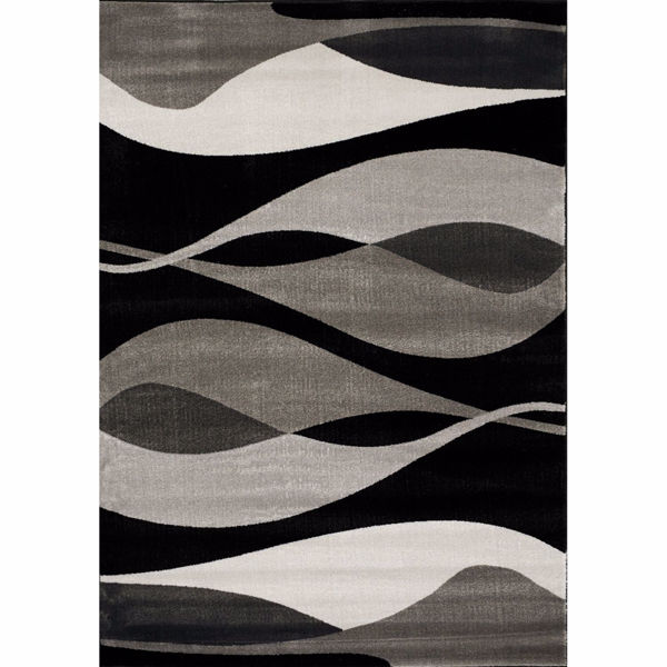 Picture of Platinum Modern Waves 8X11 Rug