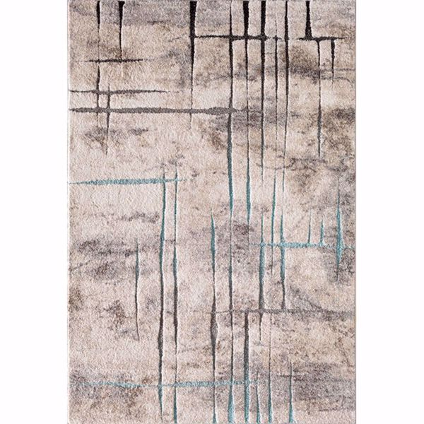 Picture of Rainier Hi Lo Etch Blue Brown 5x7 Rug