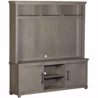 Picture of Villa Lucca 72IN TV Console & Hutch, Gray
