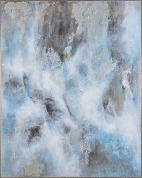 Picture of Soft Blue Abstract Canvas