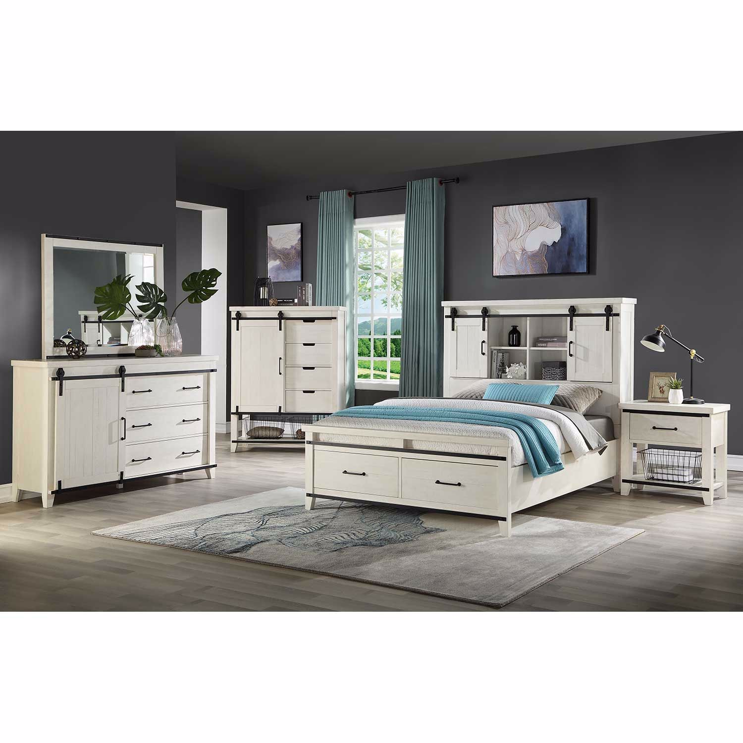 Picture of Dakota Queen Bookcase Storage Bed
