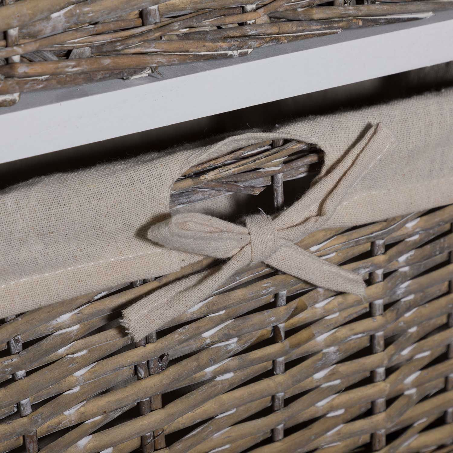 Picture of Wicker Basket Accent Storage Tower