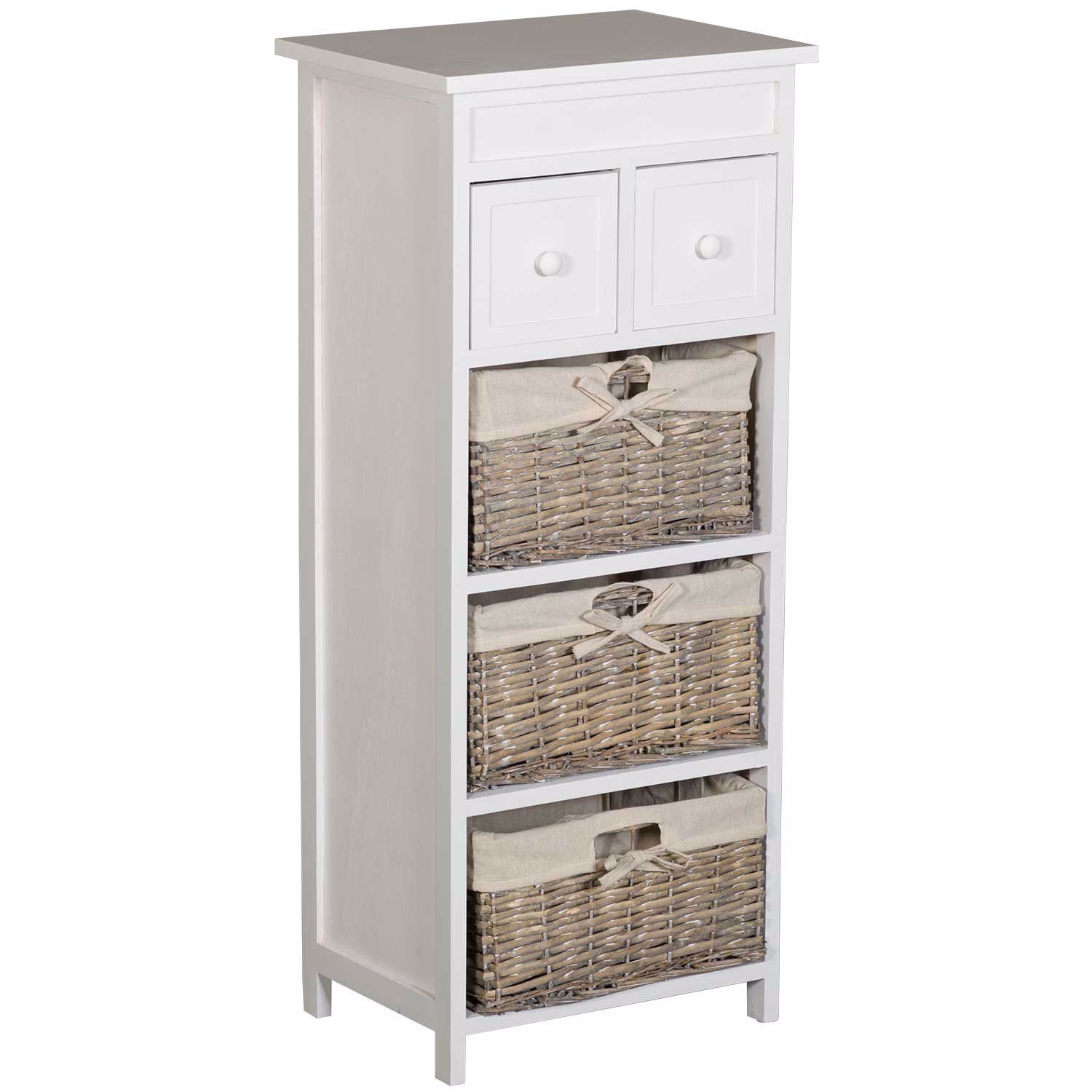 Picture of Three Wicker Basket Accent Storage Tower