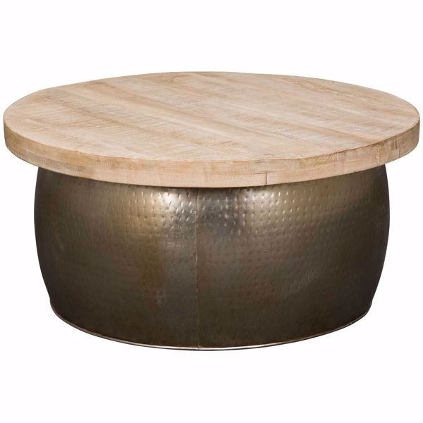 Picture of Zinc Plated Copper Drum Coffee Table