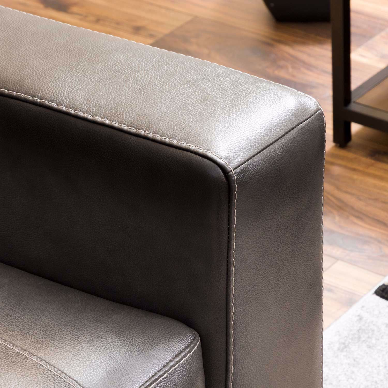 Picture of Morelos Gray Italian Leather Sofa