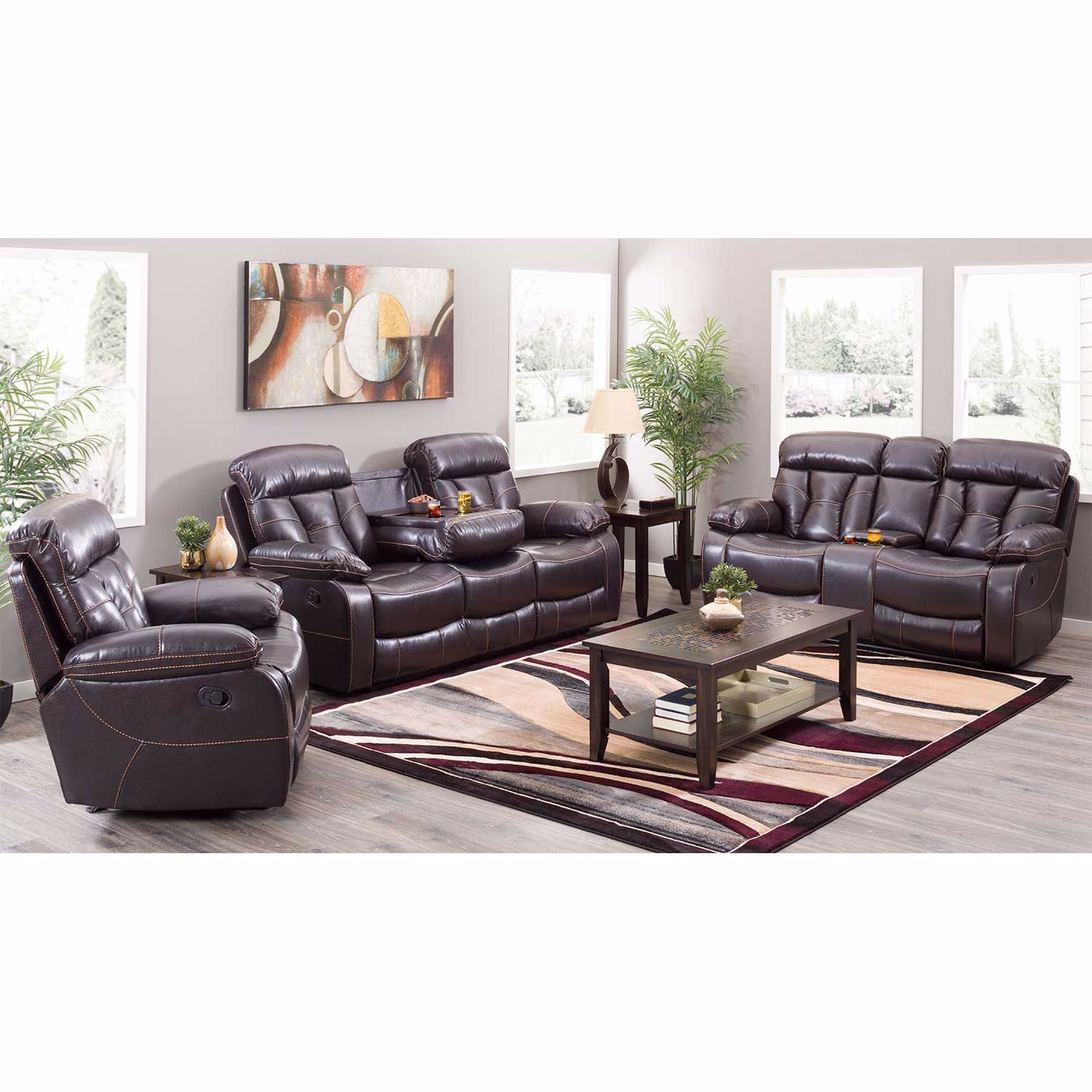 Picture of Pekin Reclining Console Loveseat