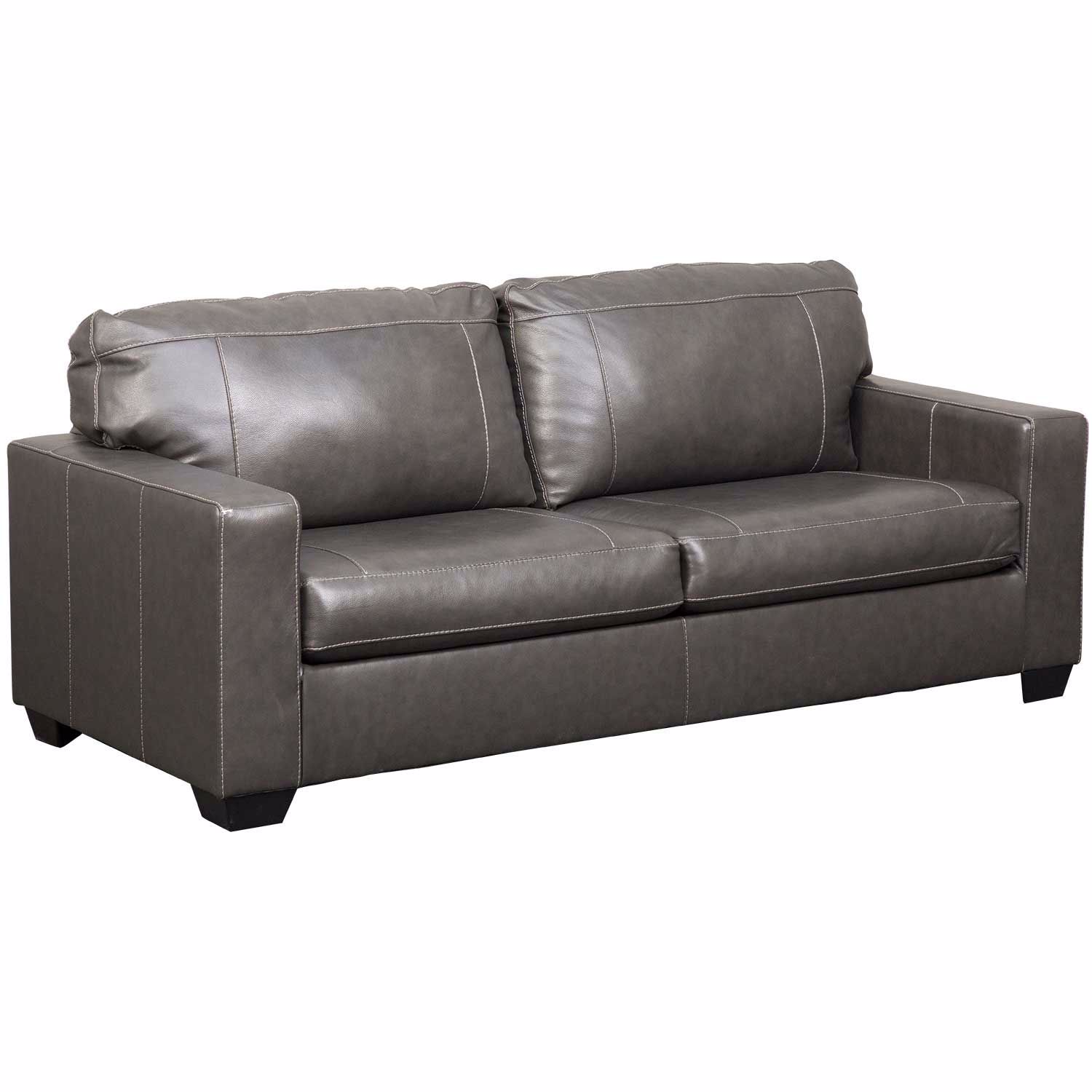 - Morelos Gray Italian Leather Queen Sleeper Sofa 3450339 Ashley