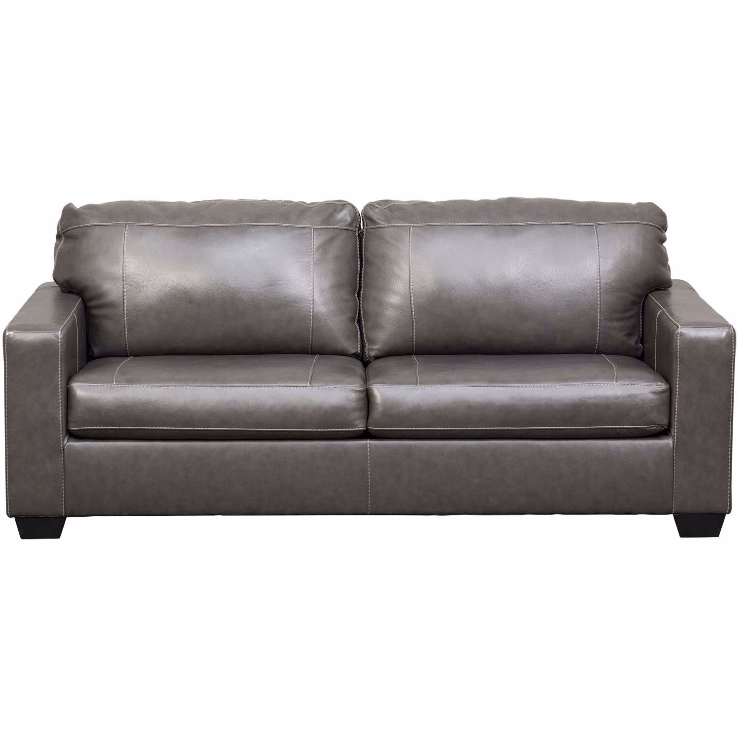 Morelos Gray Italian Leather Sofa