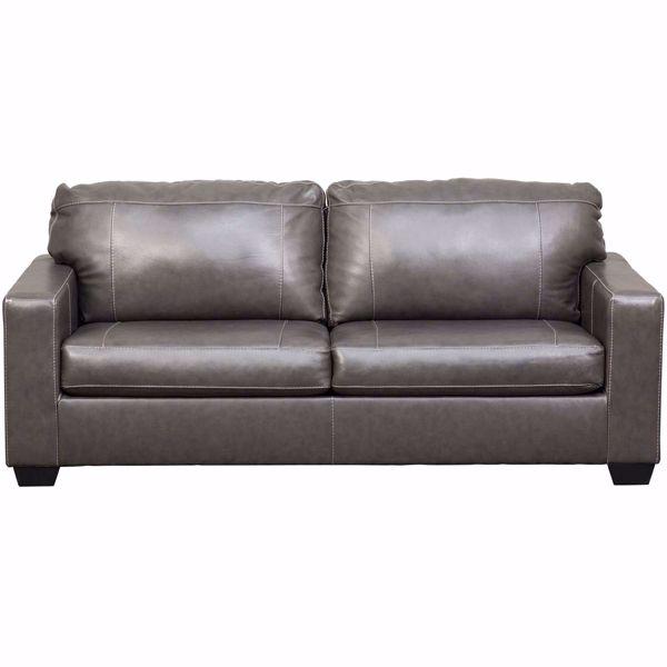 Morelos Gray Italian Leather Sofa