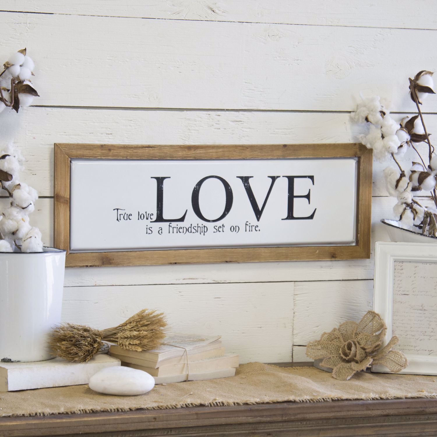 Picture of Wood Metal Sign True Love