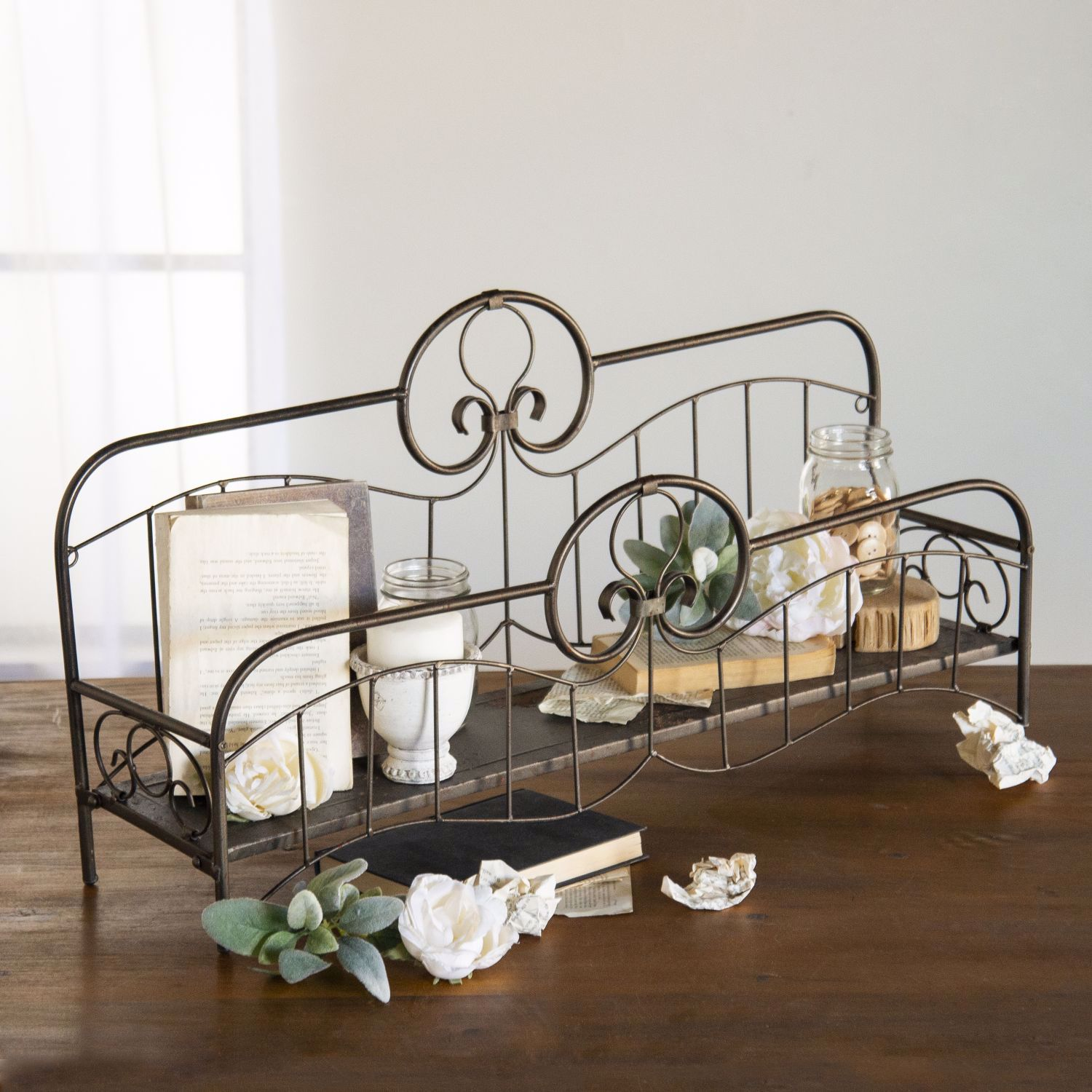 Picture of Metal Bed Accent Decor