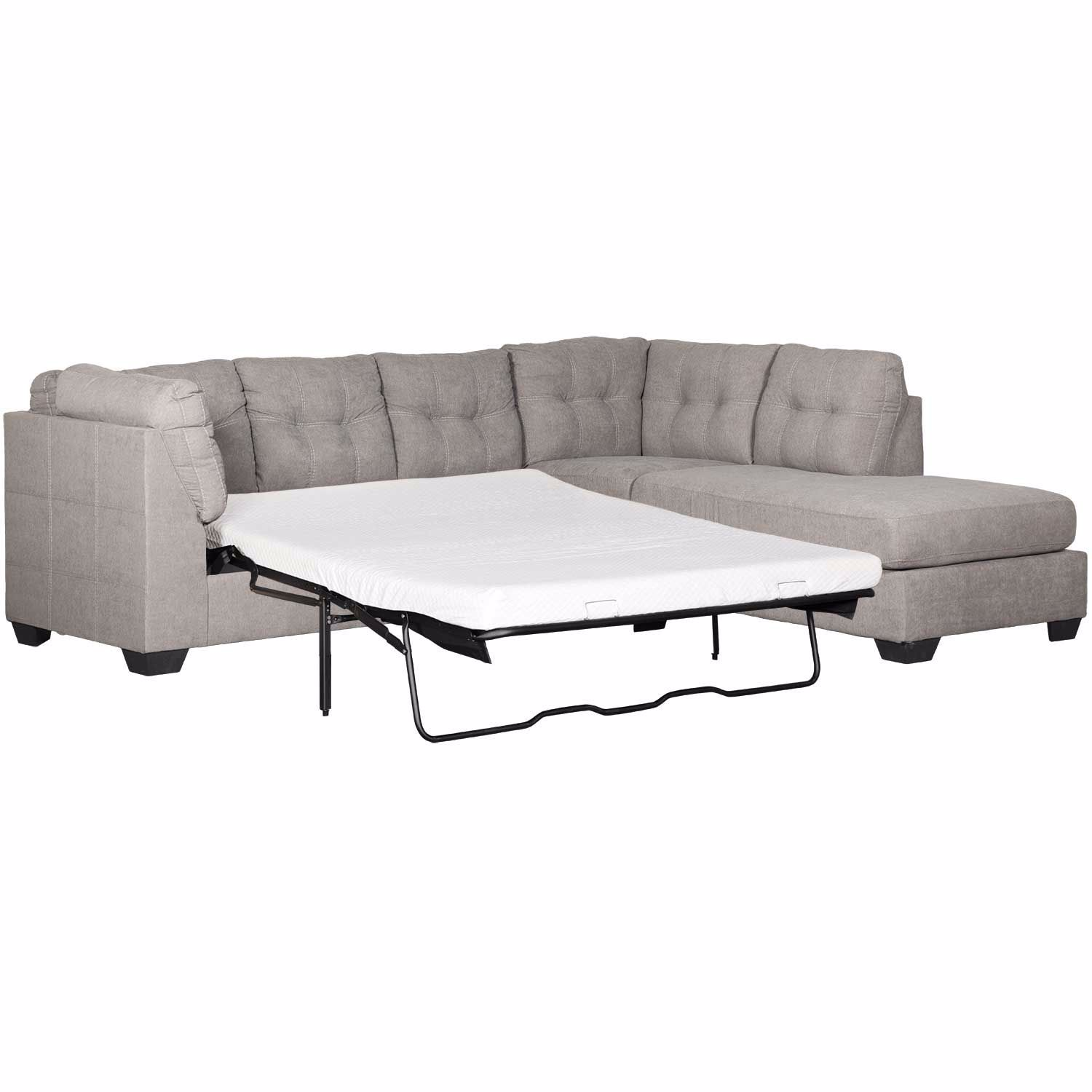 - Maier Charcoal 2 Piece Sleeper Sectional With RAF Chaise 4520017
